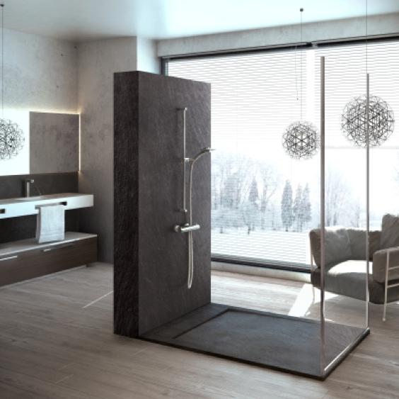 Composiet platen badkamer - Muurpanelen badkamer ...