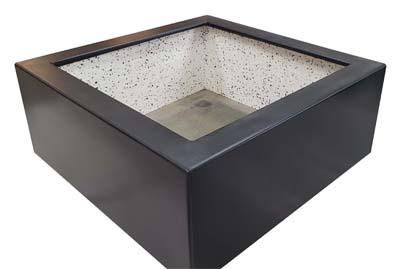 Polyester plantenbak 100x100x40cm mat