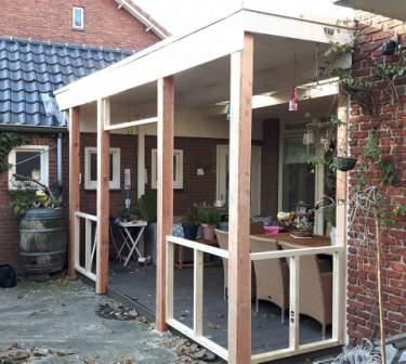 Iets Nieuws Bestaande veranda dicht bouwen met schuifdeuren en thermopane HR++ @NN66