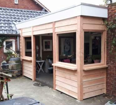 Bedwelming Bestaande veranda dicht bouwen met schuifdeuren en thermopane HR++ #FY79