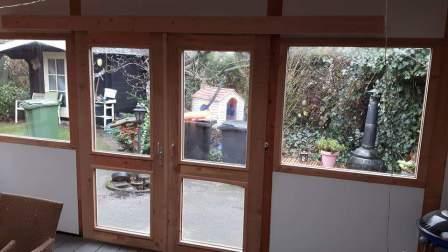Bekend Bestaande veranda dicht bouwen met schuifdeuren en thermopane HR++ #AS92
