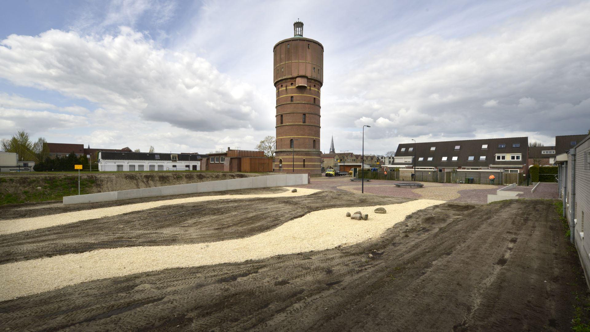 Wijkpark rondom watertoren Hoog en Droog