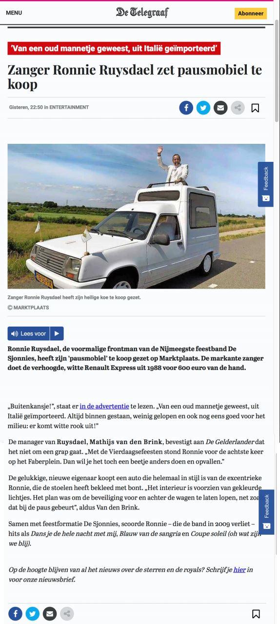 Ronnie_Ruysdael_Telegraaf