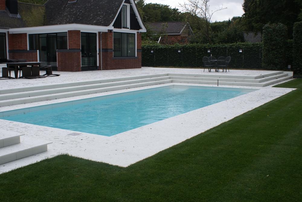 Project zwembad terras natuursteenofferte - Zwembad in het terras ...