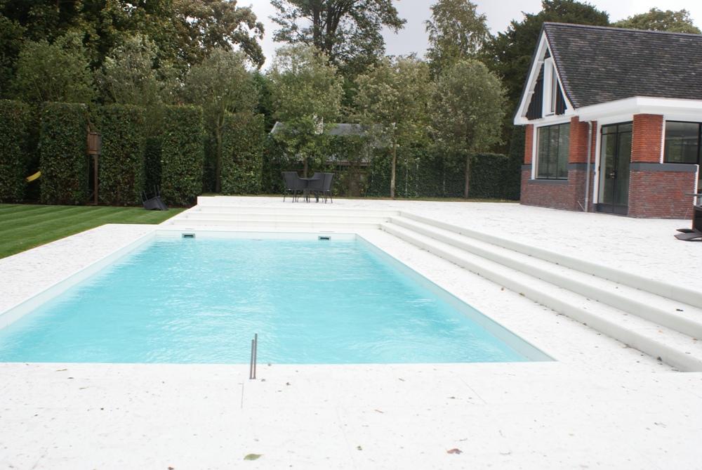 Project zwembad terras natuursteenofferte - Deco terras zwembad ...